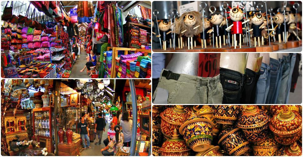 Шоппинг на рынке выходного дня Чатучак в Бангкоке