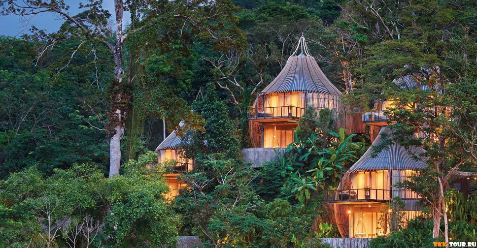 Keemala - Шикарный отель с домами из бамбука в виде птичьих гнёзд на Пхукете.