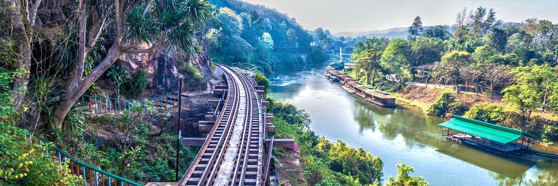 Дорого смерти на реке Квай в Таиланде