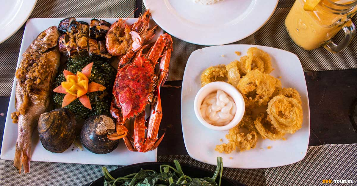 Морепродукты и другая еда на Филиппинах